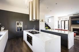 modern kitchen twin islands marble bench top