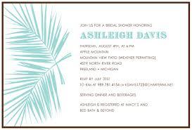 Honeymoon Bridal Shower Invitation Wording Stephenanuno Com