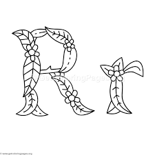 flower island alphabet letter r coloring pages