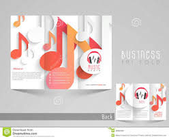Music Brochure Stylish Trifold Brochure Catalog And Flyer Template For Music 3