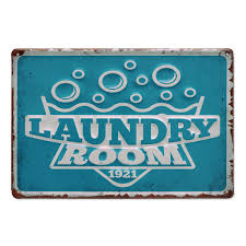 Blechschild Retro Laundry Room 20x30 Cm Metallschild Spruch