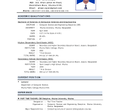 Fantastic Part Time Lecturer Resume Sample Contemporary Entry