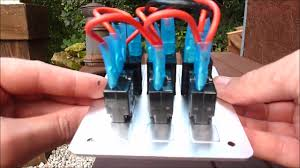 silver white marine switch panel circuit breaker
