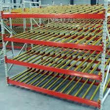 china warehouse storage carton flow rack gravity self sliding roller shelf system rack