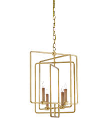 currey company 9000 0071 metro antique gold leaf square chandelier undefined