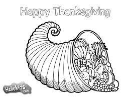 Thanksgiving Cornucopia Coloring Pages
