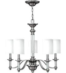 brushed nickel chandelier home depot filament design 5 light with clear glass shade fabric shades