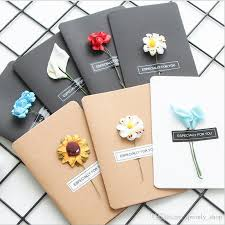 hand made greeting cards dried flower diy vintage kraft paper thank you cards anniversary card simulation flower card birthday cards