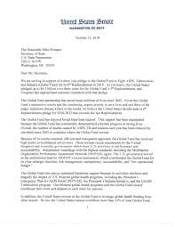 Bipartisan Group Of Senators Requests Increased U S Pledge