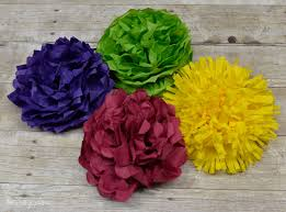 Tissue Paper Flower How To Make How To Make Tissue Paper Flowers Four Ways Hey Lets Make Stuff