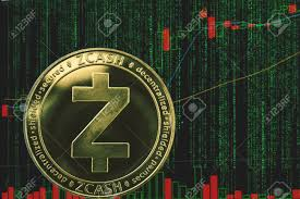 Coin Zcash Zec Cryptocurrency On The Background Of Binary Crypto