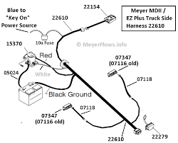 meyer plow help com meyer plow wiring identification information ez plus when the ez plus first came out it used the e 57h and quickly went to the e 58h it still used the 22610 truck side harness