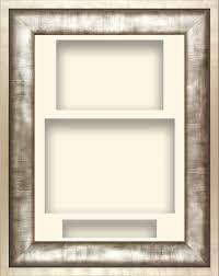 11 5x8 5 urban silver pewter grey deep display frame cream portrait