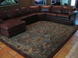 chocolate brown and blue area rug