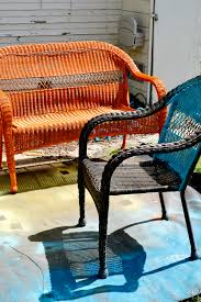 catchy colored wicker furniture an easy patio update with island inspired color