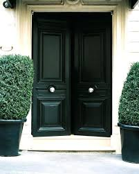 black front door with glass insert entry doors modern exterior pull handles white knobs and potted black front door full glass