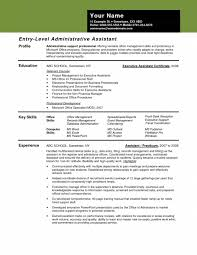 Entry Level Admin Assistant Resume Entry Level Administrative