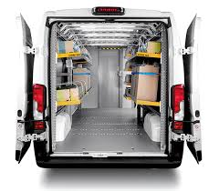 foldable van shelving for express courier services