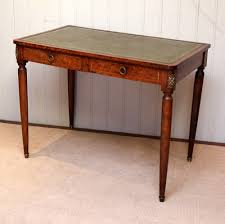burr maple leather top writing desk antique writing desks alt5