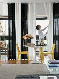 Contemporary Black And White Curtains S To Decorating Ideas