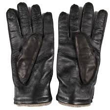 capri gloves black leather and cashmere gloves