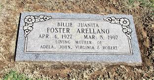 Mrs Billie Juanita Foster Arellano (1927-1997) - Find A Grave Memorial