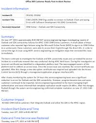 incident report example microsoft dynamics crm service health incident example microsoft