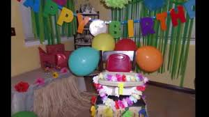 hawaiian theme birthday party simple decorating idea part 3