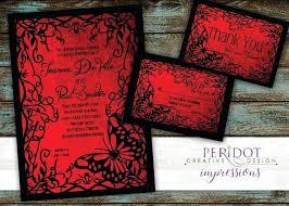 Wedding Invitation Set Templates Gothic Wedding Invitations Red Wedding Invitation Set Invitation