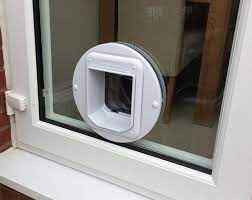 fitting a cat flap in a double glazed