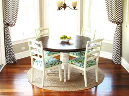 Breakfast Nook Kitchen Table Excellent Bay Window With Round Sisal Rug For Elegant Breakfast