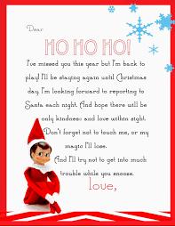Elf Return Letter Printable
