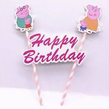 Peppa Pig Cake Toppers For Sale Ebay