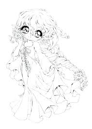 Chibi Anime Coloring Pages Anime Coloring Pages Girl A Chibi Anime