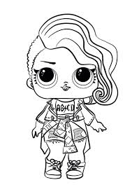 Rocker Lol Dolls Coloring Pages Free Coloring Sheets