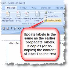 Microsoft Word Update All Fields Mail Merge Labels With Microsoft Office