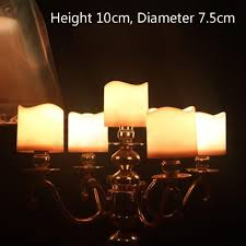 Party Light Hurricane Lamp Chimney Electronic Flameless Candle Light Remote