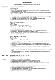 Sales Service Resume Samples Velvet Jobs