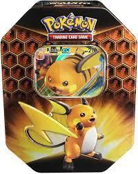 Buy Pokemon TCG: SM11.5 Hidden Fates Gx Tin- Raichu + 1 of 3 Foil Pokémon-GX  Cards + 4 Booster Pack Online in Indonesia. B07X4RGPLR