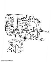 Paw Patrol Coloring Pages 4 Rocky 6 Futuramame