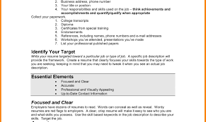 Resume Examples Of Simple Resumes For Jobs Alexa Resume