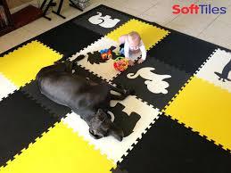 childrens foam mats safari animal play mat tiles in black gray white yellow nz
