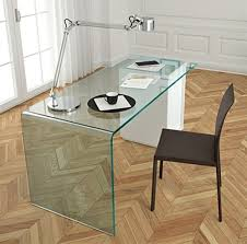 contemporary glass desks for home office. rialto l is a contemporary glass office desk from fiam \u2013 the design encapsulates what sees as future of modern workplace or home office. desks for u
