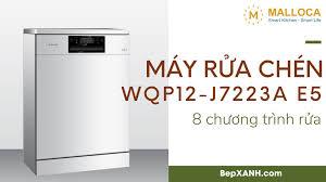 Bếp XANH - Kitchen & Home Appliances - Máy rửa chén Malloca WQP12-J7223A E5  - 8 chương trình rửa