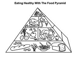 Small Picture Eating Healthy with the Food Pyramid Coloring Pages Download