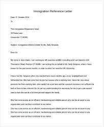 Reference Letter For Immigration Sample Letter Of Recommendation For Immigration Residency Cycling