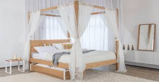 Affordable Wooden Four Poster Bed — Joomant Designs : Poster beds ...