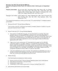 Sample Annual Meeting Minutes Template Hoa Meltfm Co
