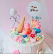 Peppa Pig Figurines Birthday Cake Topper Toy Display