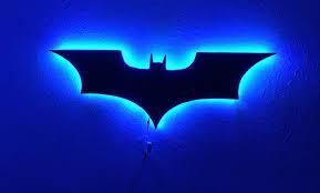 Dc Comics Batman Logo Batman Led Wall Light Colorful Rgb Usb Led Mirror Light Remote Control Projection Night Light Suitable For Bedroom Ktv